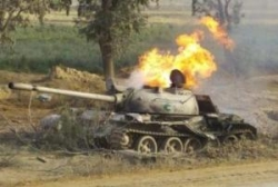 В Слониме на учениях сгорел танк