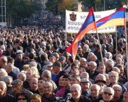 В Ереване был разогнан митинг против повышенных тарифов